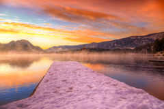 Lake Bled in winter, Slovenia, Europe Stock Photography