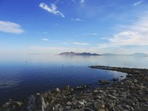 Lake Blue. The Great Salt Lake in Utah royalty free stock photos