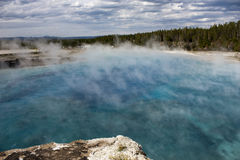 Lake blue and hot stock images