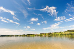 Lake with blue sky Stock Photography