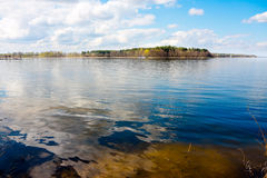 Lake and blue sky - Masuria Royalty Free Stock Photo