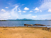 Lake with Blue Sky Stock Image