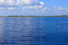 Lake with blue sky Stock Images