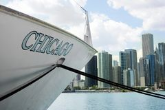 Lake boat in Chicago Royalty Free Stock Images