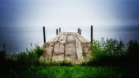 Lake boat dock Stock Photo