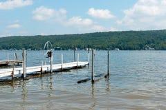 Lake and boat docks Stock Photos