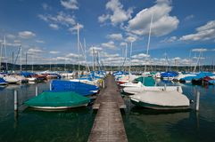 lake with boats Royalty Free Stock Images