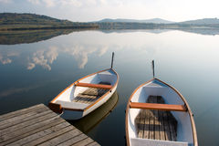Lake boats Royalty Free Stock Photography