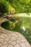 Lake and boats Stock Photos