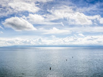 Lake Bodensee with clouds Royalty Free Stock Photo