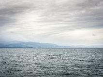 Lake Bodensee with dark clouds Stock Image