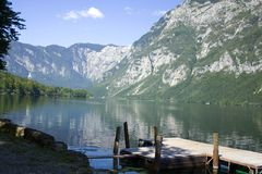 Lake Bohinj Stock Image