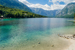 Lake Bohinj (Bohinjsko jezero) Stock Photo