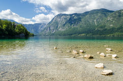 Lake Bohinj (Bohinjsko jezero), Slovenia Royalty Free Stock Photography