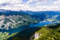 Lake Bohinj and its surrounding southern Alps moun Royalty Free Stock Photography