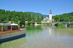 Lake Bohinj,Julian Alps,Slovenia Stock Image