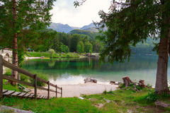 Lake Bohinj, located in the Bohinj Valley of the Julian Alps Royalty Free Stock Photography