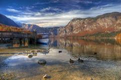 Lake Bohinj, Slovenia - autumn picture Royalty Free Stock Photography