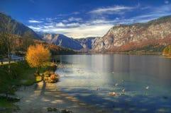 Lake Bohinj , Slovenia - autumn view Royalty Free Stock Image