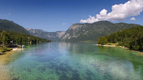 Lake Bohinj in summer Royalty Free Stock Image