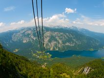 Lake Bohinj and Triglav Mountain Royalty Free Stock Image