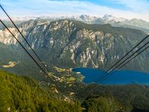 Lake Bohinj and Triglav Mountain Stock Image