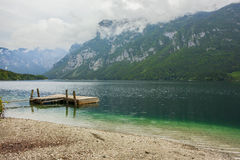Lake Bohinj in Triglav national park, located in the Bohinj Valley of the Julian Alps Royalty Free Stock Photography
