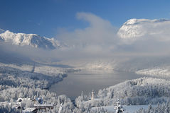 Lake Bohinj in winter Stock Images