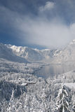 Lake Bohinj in winter Stock Image