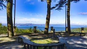 Lake Bolsena view from Montefiascone stock photos