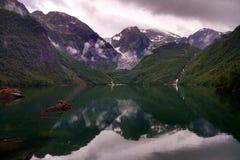 Lake Bondhus in Folgefonna national park, Hordaland county, Norway.  stock photos