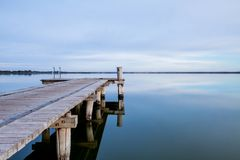 The Lake Bonney Jetty in Barmera South Australia on 13th Decembe stock photography