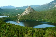 Lake Borovoe in to Kazakhstan Stock Image