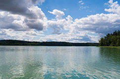 Lake in Borzechowo, Poland. One of the cleanest lakes in Poland Royalty Free Stock Photo