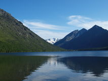 Lake bottom Multa, mountain Altai 1 Stock Photo