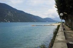 Lake Bourget and walk way of Aix-les-bains Stock Images