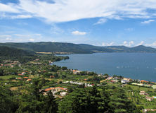 Lake Bracciano panoramic view Stock Images