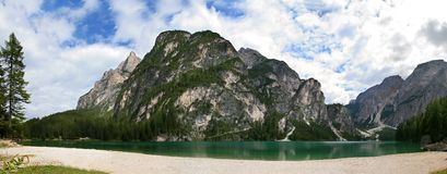 Lake of Braies in Dolomite - Italy Royalty Free Stock Image