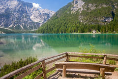 Lake Braies, Dolomites Royalty Free Stock Photography