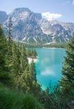 Lake Braies, Dolomites Stock Photography