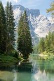 Lake Braies, Dolomites Stock Photos