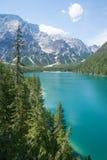 Lake Braies, Dolomites Stock Images
