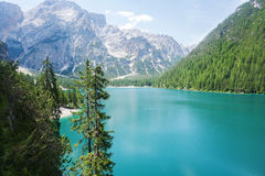 Lake Braies, Dolomites Royalty Free Stock Images