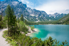 Lake Braies Stock Photography