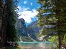 Lake. Braies Lake,Italian Tyrol,2015 royalty free stock photos