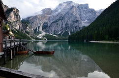 Lake of Braies Italy Royalty Free Stock Images
