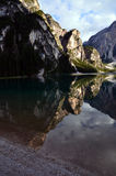 Lake of Braies Italy Royalty Free Stock Photo