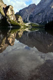 Lake of Braies Italy Stock Photo