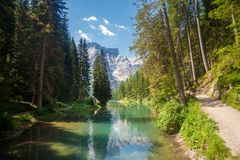 Lake Braies Royalty Free Stock Photography