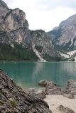 Lake Braies Lago di Braies Royalty Free Stock Photos